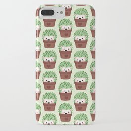Hedgehogs disguised as cactuses iPhone Case