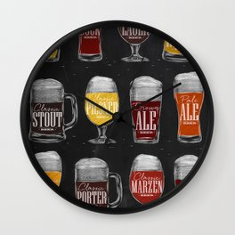 Types of beer chak Wall Clock