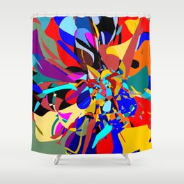 Flora Abstract Shower Curtain