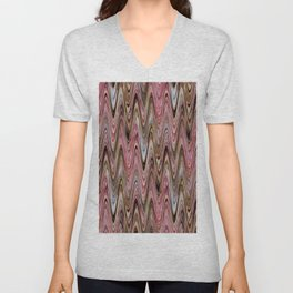 Zigzag Antique Pink Unisex V-Neck