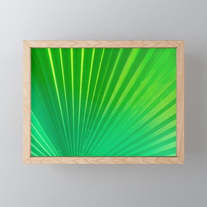 Palm Tree Leaf Framed Mini Art Print