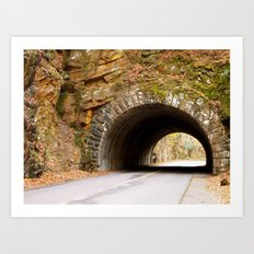 Mountain Tunnel in Tennessee Art Print