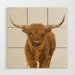 Highland Cow Wood Wall Art