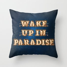 Wake up in Paradise - Wall-Art for Hotel-Rooms Throw Pillow