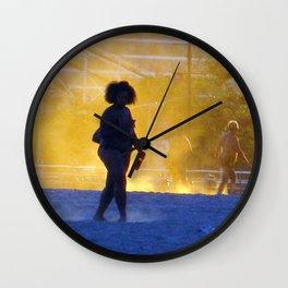 """Coney Island at Dusk"" Wall Clock"