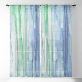 14    190907   Watercolor Abstract Painting Sheer Curtain