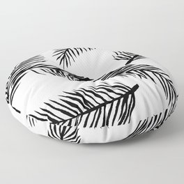 Black & White Palm Leaves Floor Pillow