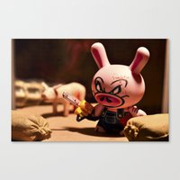 bacon Canvas Prints featuring Bacon by m4Calliope