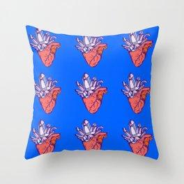 Heart Crystals Modern Pop Art Throw Pillow