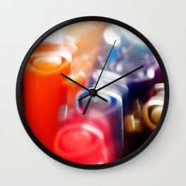 Pen Rainbow Wall Clock