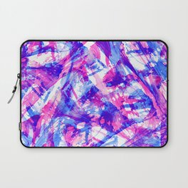 Artsy Girly Modern Pink Purple Acrylic Abstract Art Laptop Sleeve