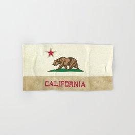 Vintage California Flag Hand & Bath Towel