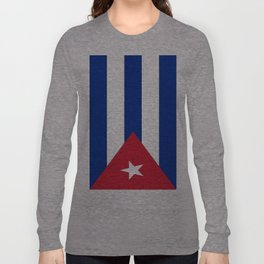 Flag of Cuba -cuban,havana, guevara,che,castro,tropical,central america,spanish,latine Long Sleeve T-shirt