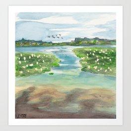 Green Lake in June Art Print
