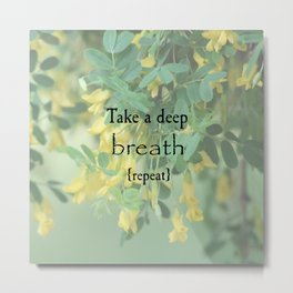 Take A Deep Breath Metal Print