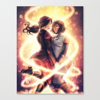 korrasami Canvas Prints featuring Korrasami finale by iAHFY