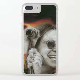 'Ozzy's Fire' Clear iPhone Case
