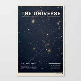 THE UNIVERSE - Space | Time | Stars | Galaxies | Science | Planets | Past | Love | Design Canvas Print