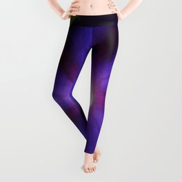 Midnight Purple Morning Glory Leggings