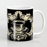 shameless Mugs featuring For the love of Caffeine by Egregore Design