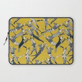 dog party indigo yellow Laptop Sleeve