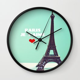 Paris Je T'aime Wall Clock