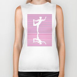 Yoga Reflection Natarajasana Dance Pose Asana Biker Tank
