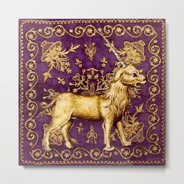 Licorne - Garden of Beasts Collection Metal Print