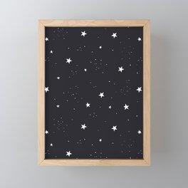 stars pattern Framed Mini Art Print