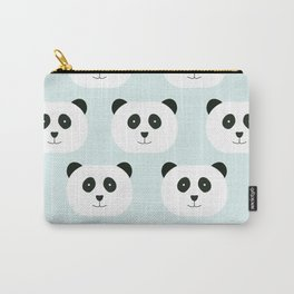 Panda Love- Mint Blue Carry-All Pouch