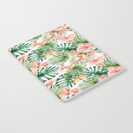 Tropical Jungle Hibiscus Flowers - Floral Notebook