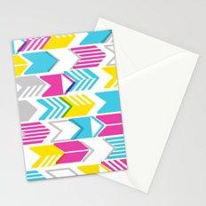 Tribal Arrows (CMYGray) Stationery Cards