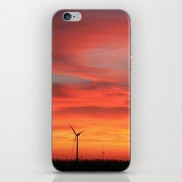 Sunset Turbines iPhone Skin