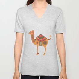 The Ethnic Camel Unisex V-Neck