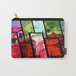 Mixed color Poinsettias 3 Tinted 1 Carry-All Pouch
