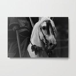 MEDIEVAL HORSE Metal Print
