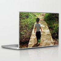 toddler Laptop & iPad Skins featuring Walking Into the Future by MICHELLE MURPHY