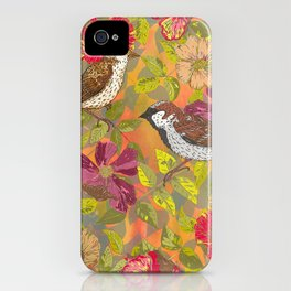 Sweet Sparrows and Briar Rose iPhone Case
