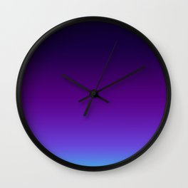 Galaxy Orchid Ombre Wall Clock