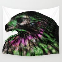 hawk Wall Tapestries featuring Hawk, v5 by pbnevins