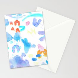 Watercolor Abstract Splash Stationery Cards