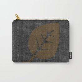 Giant Gold Leaf Black Denim Carry-All Pouch