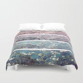 Vincent Van Gogh : Almond Blossoms Panel arT Pastel Pink Blue Teal Duvet Cover