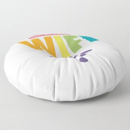I CAN'T LIVE WITHOUT WIFI Floor Pillow
