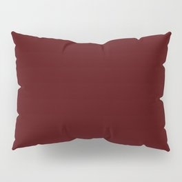 Bordo Wine Flat Color Pillow Sham