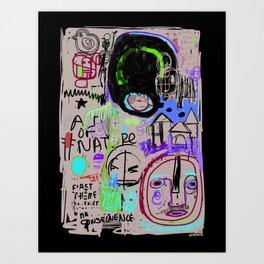 """Angry Boy Blackboard"" Art Print"