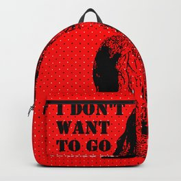 Oscar Wilde #7 I don't want to go to heaven Backpack