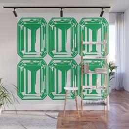 Channel Set Green Emeralds Wall Mural