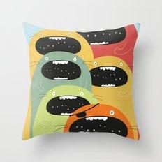 Monster gang. Throw Pillow