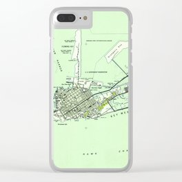 Vintage Map of Key West Florida (1943) Clear iPhone Case